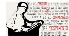 Caligrama en memoria del periodista argentino Rodolfo Walsh, con la frase que cierra la Carta Abierta de un escritor a la junta militar.  Actividad realizada para la asignatura Tipografía y Grafismo Digital.    #tipo1314