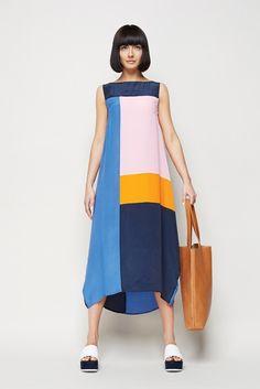 splice dress $299 - nov basic leather tote $169 - available now polka face slide $169 - nov