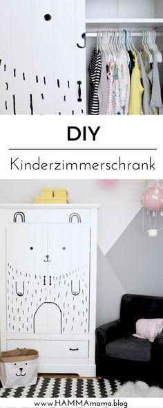 Kleiderschrank DIY für das Kinderzimmer: einfache und schnelle Deko-Idee