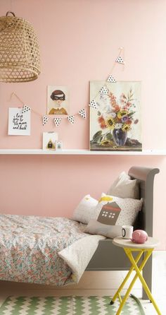 Bibelotte bedding in a pink bedroom. Lovely colour inspiration
