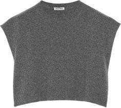 Cropped Cashmere Sweater - Miu Miu