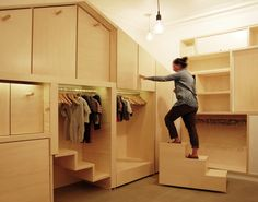 tiny house - tiny house interior. Compact and flexible living space inside a tiny home