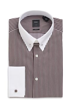 Details about mens designer italian formal slim fit dress for Hugo boss french cuff shirt