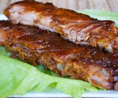 Oven baked spareribs teriyaki.Delicious oven baked spareribs with soy sauce and orange juice.