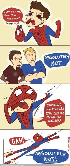 Haha I love that Tony and Steve are his dads