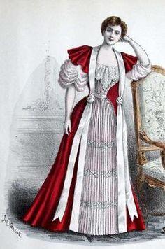 The Barrington House 1893 Tea Gown