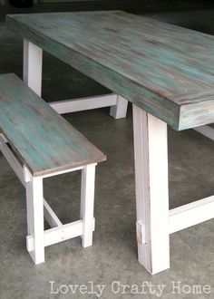 weathered table finish how to