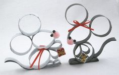 Toilet paper roll mice. Probably the cutest thing I've seen done with a toilet…