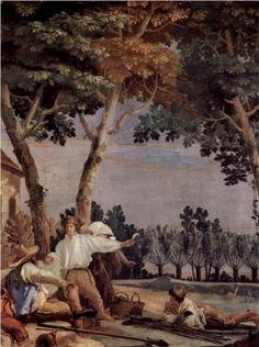 Giovanni Domenico Tiepolo (Italian: 1727-1804) - Rest of the farmers (1757)