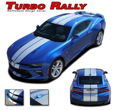 2016 Chevy Camaro TURBO SPORT Factory OEM Style Professional 3M Vinyl Rally and Racing Stripes Graphics Decals Kit - Pre-Cut and Designed, Ready to Install!  For Automotive Restylers and Dealers . . .