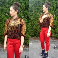 Leopard and red never fail.