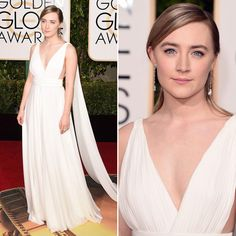 Saoirse Ronan - Vestido Yves Saint Laurent - Golden Globes Awards 2016