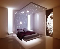 Modern and Cool Floating Bed Idea for Bedroom Décor. Modern Nice Amazing Awesome Fantastic Floating Bed Design Idea With Small Room Idea And Has Wonderful Concept With Modern Furniture. Contemporary Bedroom Furniture, Modern Bedroom, Classic Furniture, Minimalist Home Decor, Minimalist Bedroom, Home Bedroom, Bedroom Decor, Bedrooms, Bedroom Bed Design