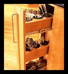 Vertical Silverware Drawer - http://thekitchenlove.com/ will be your one stop shop for all kitchen related needs