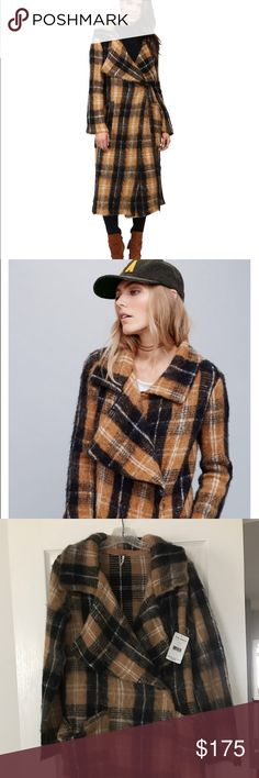 Free People Anaheim Plaid Coat Brand new with tags. Size medium. Free People Jackets & Coats