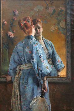 Alfred Stevens (Belgian, 1824-1906)  La parisienne japonaise