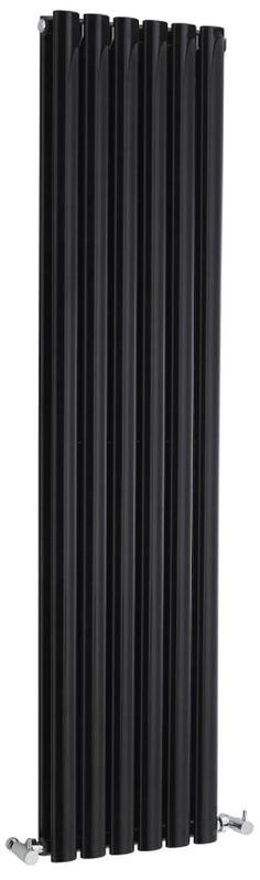 Revive High Gloss Black Double Panel Designer Radiator HLB76 | Hudson Reed