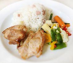 Denné menu Vranov | Kurací stehenný rezeň na anglickej zelenine, šunková ryža - reštaurácia Hotel Patriot*** #hotel #restauracia #dennemenu