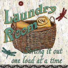 Laundry Room I Kunstdruck von Debbie DeWitt Laundry Room Art, Laundry Room Signs, Laundry Shop, Posters Vintage, Vintage Prints, Canvas Prints, Art Prints, Canvas Fabric, Canvas Canvas