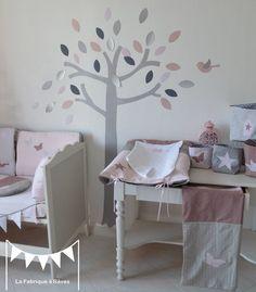 Couverture bébé rose poudré gris vieux rose en coton et percale de ...