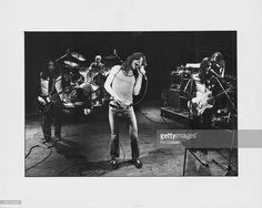 Rock band Uriah Heep on stage, 1983.