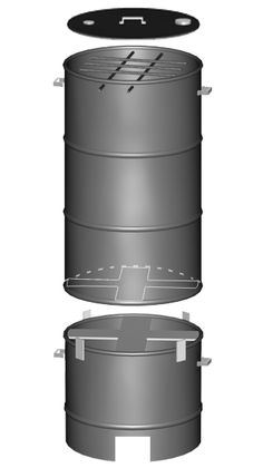Montagem do defumador de tambor Barbecue Grill, Grilling, Carne Defumada, Barrel Grill, Diy Smoker, Grill Design, Smokehouse, Smoker Recipes, Charcoal Grill