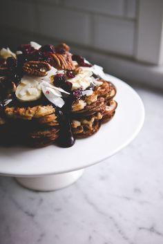 Baking Magique | Buckwheat Chia Waffles and Raw Fudge Sauce | http://www.bakingmagique.com
