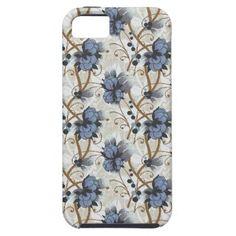 #Blue Wild #Flowers Mosaic #iPhone 5 Case
