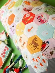 munki munki hexagon pillow by Heather
