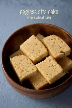 Eggless Atta Cake Recipe - Easy and delicious recipe of eggless cake made with whole wheat flour (atta), sweetened condensed milk and butter.