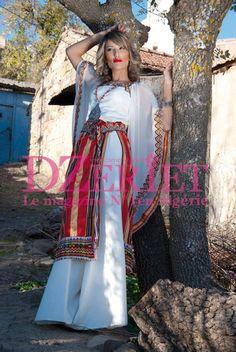 Algerian Fashion: White berber dress Plus