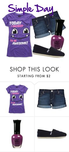 """Simple Day"" by heart-skips-a-beat ❤ liked on Polyvore featuring Paige Denim, TOMS and simple day"
