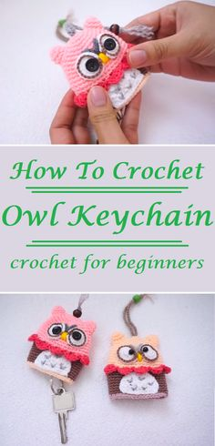 How to Crochet an Owl Keychain Step by step Tutorial