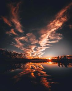 Amazing sunset reflection clouds red tree lake sea landscape nature crazy sunset in illinois by e4rlyr1ser stop wasting money by not using unlimitedsunset up to 80 discount on your hotels bookings everywhere in the fandeluxe Choice Image