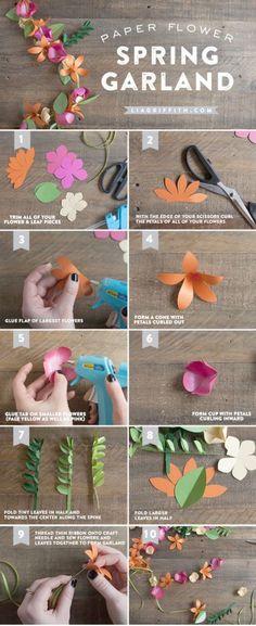 200 pcs Mixed Blue Colors4 Mini Flowers Paper Card Making Scrapbooking Crafts