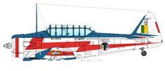 NA T-6 Texan - Esquadrilha da Fumaça - EDA - Smoke Squadron