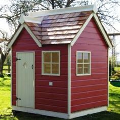 This little pink playhouse has bags of charm.    http://www.playwaysonline.co.uk/damson-cottage-playhouse-141-p.asp#