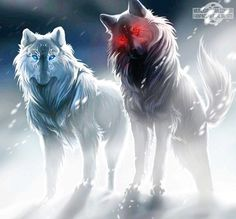 "I know this is supposed to be something from ""Off White"" or something like that, but when I see this I think it's Raava and Vaatu in wolf form."