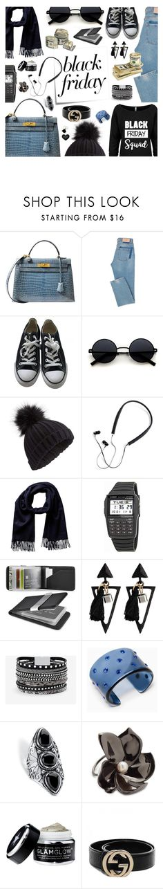 """""""Crazy blackest friday."""" by ezgi-g ❤ liked on Polyvore featuring Hermès, Post-It, Converse, Miss Selfridge, Polaroid, Casio, Zodaca, White House Black Market, Max&Co. and Palm Beach Jewelry"""
