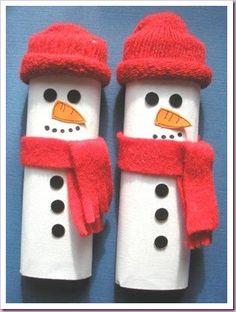 Chocolate Bar Snowmen