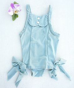 This Blue Pearl Adele Swimsuit - Toddler & Girls is perfect! #zulilyfinds