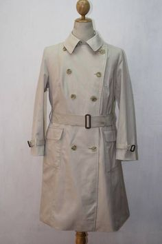 51286f43ba77 Womens BURBERRY London 3 4 Length Belted Trench Over Coat Small Medium Cream