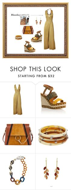 """""""Sleeveless Jumpsuits"""" by aharcaki ❤ liked on Polyvore featuring Donald Brooks, Lanvin, Chloé, Ralph Lauren, 'S MaxMara, Atelier Maï Martin and sleevelessjumpsuits"""