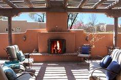 Back Patio with fireplace
