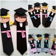 Lembrancinhas de Aniversário em EVA: Passo a Passo 27 Ideias Kids Crafts, Preschool Crafts, Felt Crafts, Diy And Crafts, Arts And Crafts, Paper Crafts, Graduation Crafts, Kindergarten Graduation, Graduation Decorations