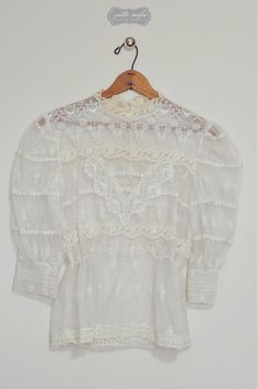 Vintage Lace Blouse with a tank under this shirt would be so so so cute!