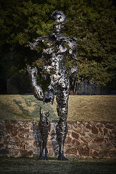 "Regardt van der Meulen South-African born sculptor. ""I am just pieces"" (2015)"