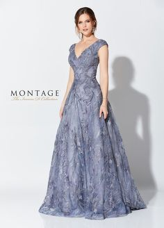 Ivonne D by Mon Cheri Simply enchanting, this tulle ball gown is ornately decorated from top to bottom with delicate embroidery and beading and features Cap Slee Mob Dresses, Fashion Dresses, Girls Dresses, Formal Dresses, Mother Of The Bride Dresses Long, Mothers Dresses, Long Mothers Dress, Brides Mom Dress, Pretty Dresses