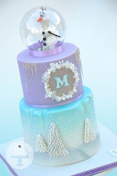 Olaf Snowglobe Frozen Cake