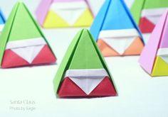 Eagle Origami: three-dimensional Santa Claus Charm Santa hanging ornament